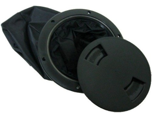 6 Inch Deck Plate With Bag: (Black) by H2o Kayaks