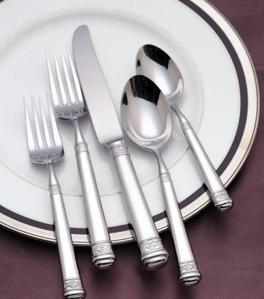 [Waterford Colleen 18/10 Stainless Steel 5-Piece Place Setting] (10 Stainless Place Setting)