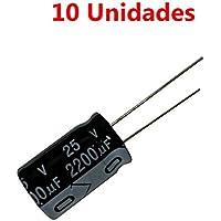 Condensador Electrolitico 2200uF (2200mF) (25 V. (10 Unds))