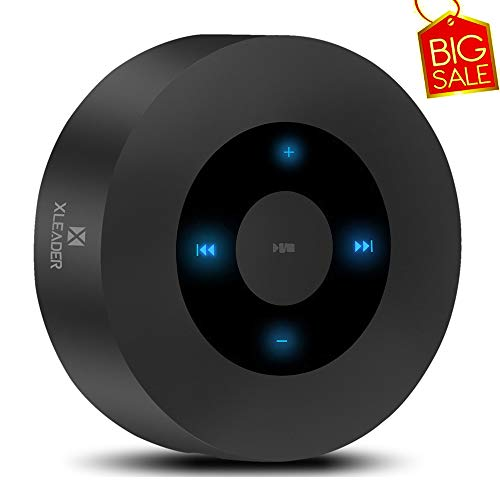 ([LED Touch Design] Bluetooth Speaker, XLeader Portable Wireless Speakers with HD Sound / 12-Hour Playtime/Bluetooth 4.1 / Micro SD Support, for iPhone/ipad/Samsung/Tablet/Laptop/Echo dot (Black))