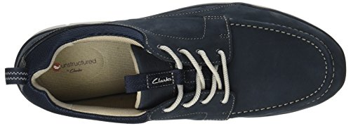 Clarks Herre Orson Bugt Sneaker Blau (Flåde Nubuck) gkDobCP