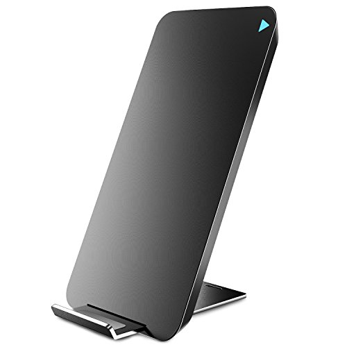 TOZO for iPhone X Wireless Charger, [Ultra Thin] [Sleep-Friendly] Wireless Fast Charging Pad for iPhone X / 10/8 / 8 Plus, Samsung Galaxy S8, S8+, Note 8 [Black] - NO AC Adapter