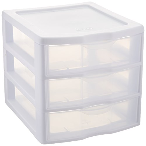 Sterilite ClearView 3 Storage Drawer Organizer (Drawers Storage Rubbermaid)
