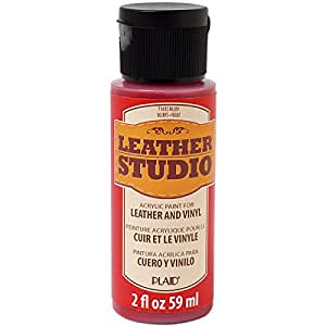 Leather Studio Leather Paint (2-Ounce), 71435 Ruby