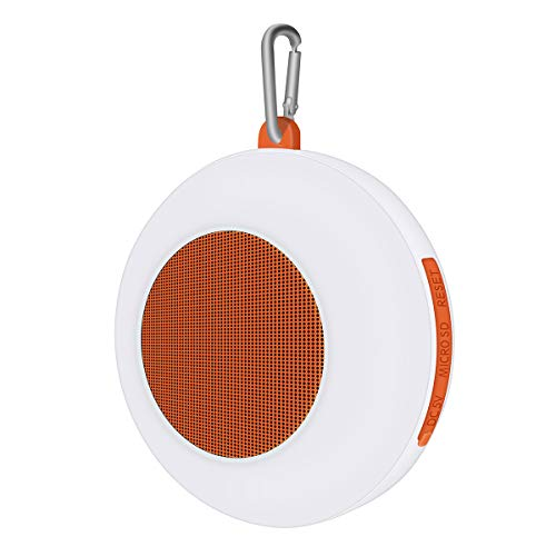 Music Apollo Waterproof and DUSTPROOF Mini Speaker with Touch Light TF/Bluetooth/AUX/USB Convenient for Outdoor, Sport, Pool,Beach, Hiking, Camping (Orange)