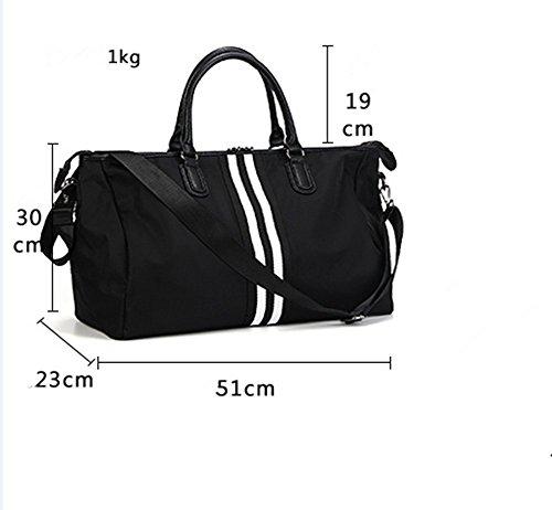 YY-Rui Unisex Weekender Tasche Vintage Reisetasche Handgepäck Sporttasche Arbeitstasche für Urlaub aus Segeltuch und Leder