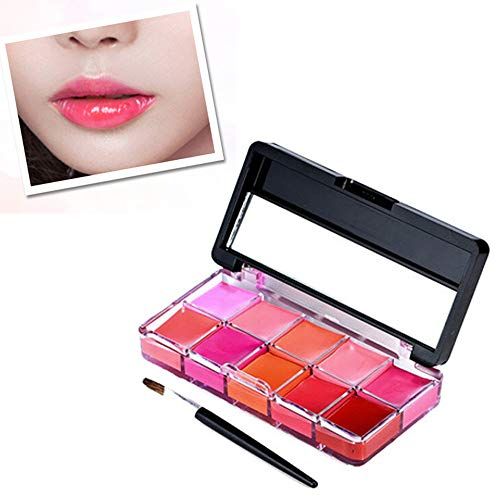 (Jonerytime10 Color Womens Magic Glitter Flip Lipstick Flip Pull Matte Pearl Lip Gloss Club (C))
