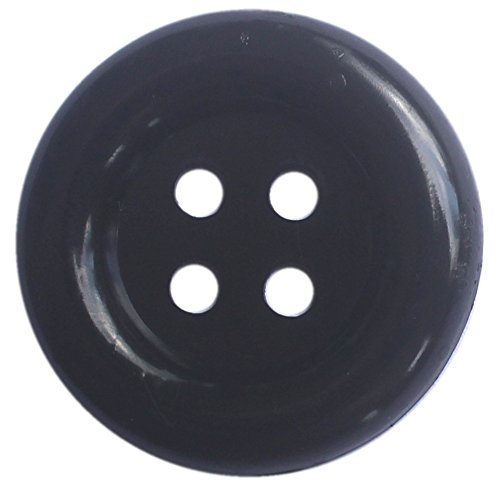 Large Size Bold Black Buttons Pack of 40