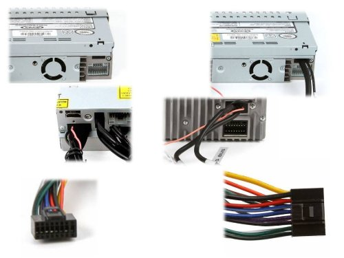 41Uar01zm3L amazon com xtenzi wire harness for jensen phase linear mp3 dvd jensen vm9214 wiring harness at virtualis.co