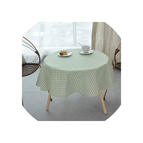 Wedding Party Table Cloth Round Rectangular Solid Yellow Black Cotton Linen Tablecloth Birthday Dining Table Cover,R,100cm Diameter Round]()