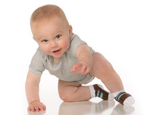 juDanzy® Velcro sneaker print socks for baby and toddler boys