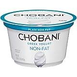 Chobani Plain Non Fat Greek Yogurt, 16 Ounce - 6 per case.