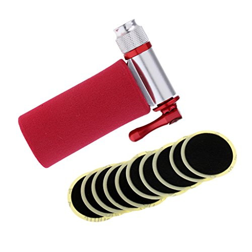 MagiDeal Bike No Need Of Glue Bike Inner Tire Glueless Patch Fast Repair Tools + Bicycle Tire Pump CO2 Inflator Presta Schrader Valve by MagiDeal (Image #10)