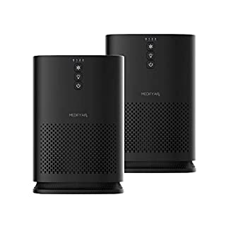 Medify MA-14 Medical Grade Filtration H13 HEPA Air Purifier for 200 Sq. Ft. (99.9%) Allergies, dust, Pollen, Perfect for Office, bedrooms, dorms and Nurseries - Black, 2-Pack
