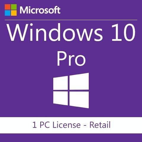 Windows 10 Professional Retail 1PC   Entrega electrónica de software Descarga versión completa de 32 y 64 bits + instrucciones de TW, Factura y garantía en España: Amazon.es: Software