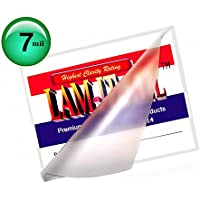 7 Mil Hot 5x7 Photo Laminating Pouches 5-1/4 X 7-1/4 [Pack of 100] Clear by LAM-IT-ALL