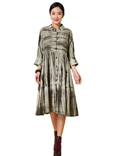 New Womens Moss Green Dress - 3