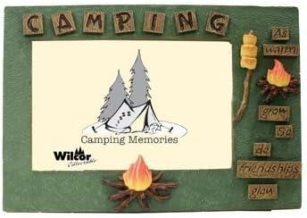 Camp Frame Marco de Fotos con Texto en inglés As Warm Fire ...