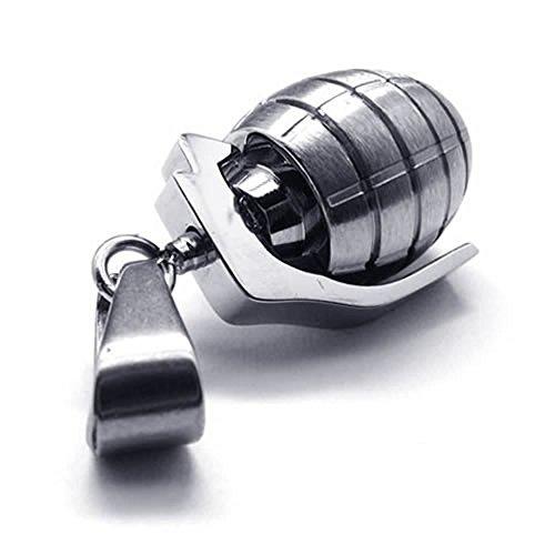 KONOV Stainless Grenade Pendant Necklace