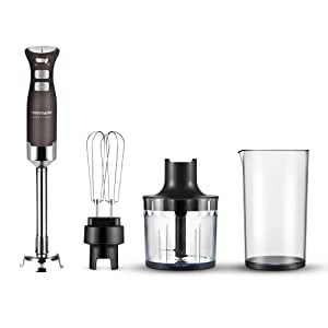 Frigidaire Professional Stainless 10 inch  9 Speed Immersion Hand Blender/Mixer with Attachments, 200 Watt