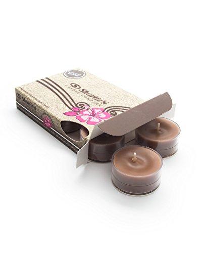 Chocolate Fudge Brownie Highly Scented Brown Tea Light Candles 6-Pack - Bakery (12 Hr Fudge)