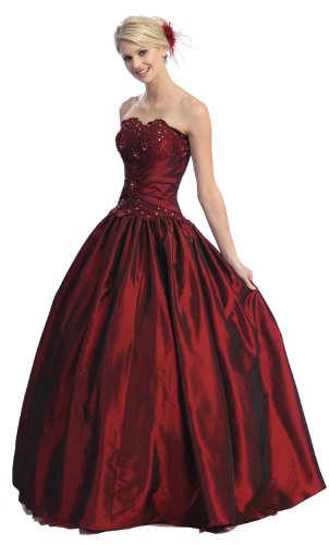 US Fairytailes Ball Gown Strapless Formal Prom Wedding Dress #2567