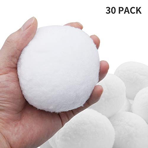 INNOLIFE Artificial Indoor Snowball Fight for Kids Play, Snow Fight Games - 30 Pack