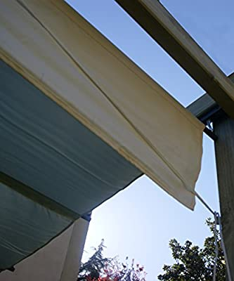 AD servicios Pérgola de Madera tratada con toldo corredero (270x270x254 cm): Amazon.es: Jardín