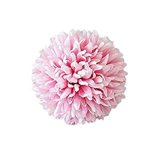 JINGB Home Ball Shape,Realistic,Easy to Maintain 1Pc Artificial Dandelion Fake Flower DIY Wedding Bouquet Party Home Decoration - Milky White 61