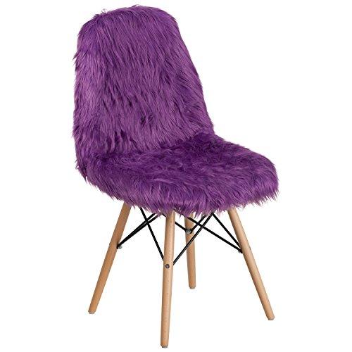 Flash Furniture Shaggy Dog Purple Accent Chair