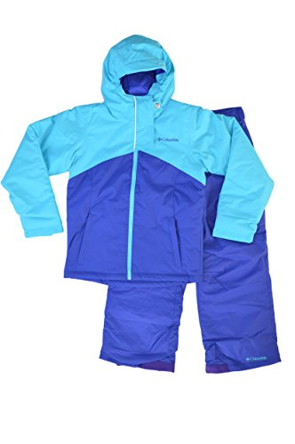 Columbia Youth Girls Crash Course 2-Piece Waterproof Ski Snowsuit (L(14/16), Grape) by Columbia