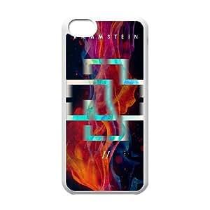 RAMMSTEIN Logo6 funda iPhone funda caso 5c teléfono celular cubren blanco, protectores 5c funda iPhone Funda blanco