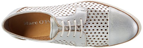 Marc Opolo Damen 70114013401110 Lace Up Oxford Silber (argento)