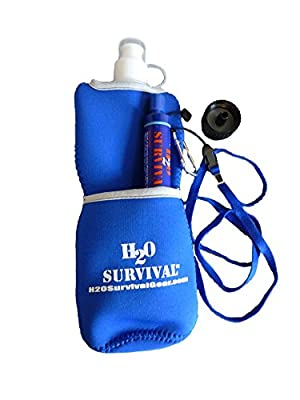 H2O Survival(tm) Water Filter Travel Straw MAX. Foreign/Domestic Water Filter Straw. 99.9999% Effective Filtration, 530 GALLON High Capacity Water Purifier. Includes Neoprene Hydration Bag & Adaptor