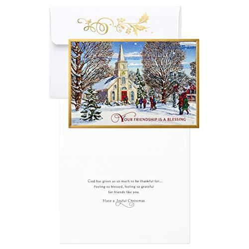 Hallmark Religious Christmas Boxed Cards, Winter Church 16
