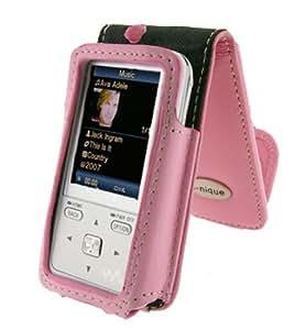 I-nique Tuff-Luv Exec suave Napa funda de piel para Sony Walkman - Rosa (nwz-s515/NWZ-S615 Series)
