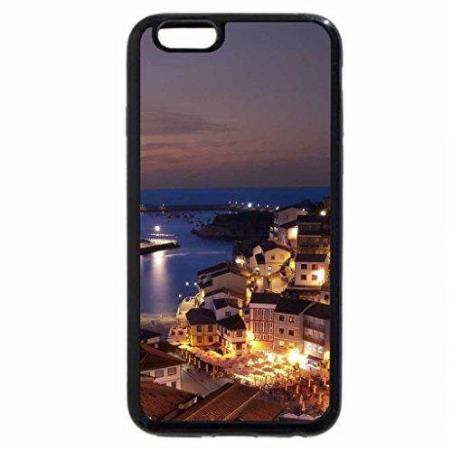 iPhone 6S / iPhone 6 Case (Black) beautiful town of cudillero spain at night