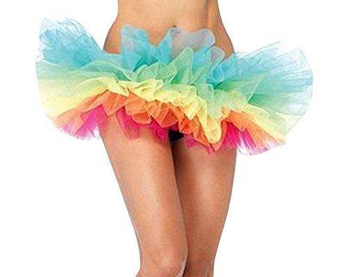 Ballet Pliss Taille SaiDeng Caise Unique Tutu Danse Bouffe Ballerine Jupe Femme Mini Jupe Tulle w4q8A4S