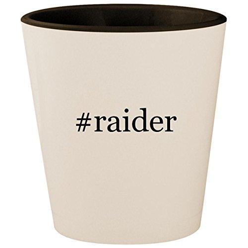 #raider - Hashtag White Outer & Black Inner Ceramic 1.5oz Shot Glass