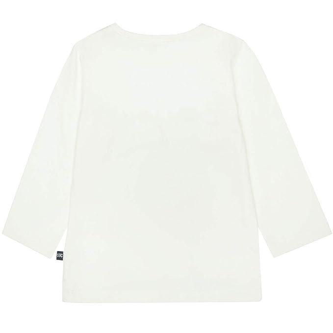 230072294 Offwhite Staccato M/ädchen Shirt Bonjour