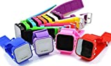 KitMax (TM) Wholesale Pack of 6 Pcs Assorted Colors Unisex Mirror Automatic LED Digital Sport Wrist Watches (Color May Vary)