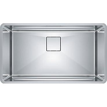Franke PTX110-31 Pecera 31 x 17 x 9 Deep 18-Gauge Single Bowl Kitchen Sink, Stainless Steel