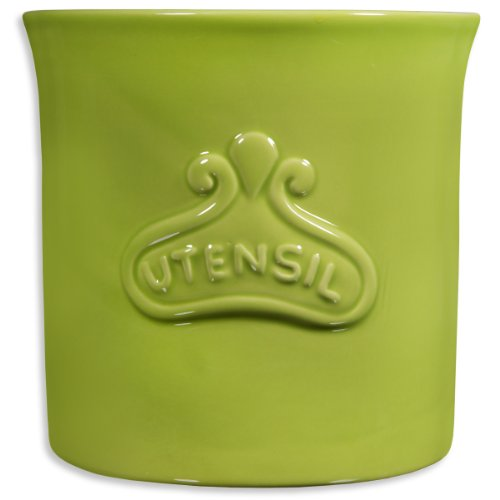 Home Essentials Round Utensil Crock Lime