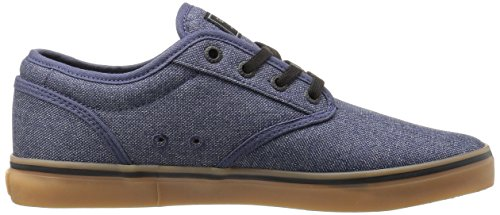 Klot Mens Brokig Skatesko Navy Chambray / Gummi