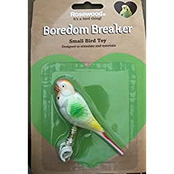 Rosewood Pet Boredom Breaker Budgie on String Small Bird Toy