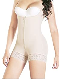 Bslingerie Women Full Body Shaper Body Briefer Undetectable Shaperwear Bodysuit
