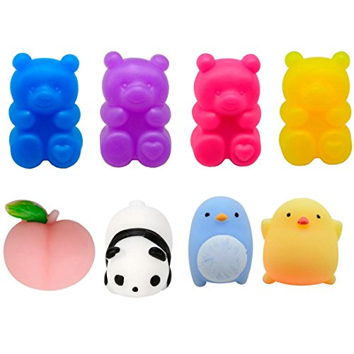Bell Collection Jewelry John - Yeefant Stress Relief Extrusion Animals Super Soft Slow Rising Relaxing Anti-Anxiety Squeeze Mini Colorful Scented Collection Squeeze Stress Reliever Toy For Kids Adult,Random,1.58x2.76 Inch