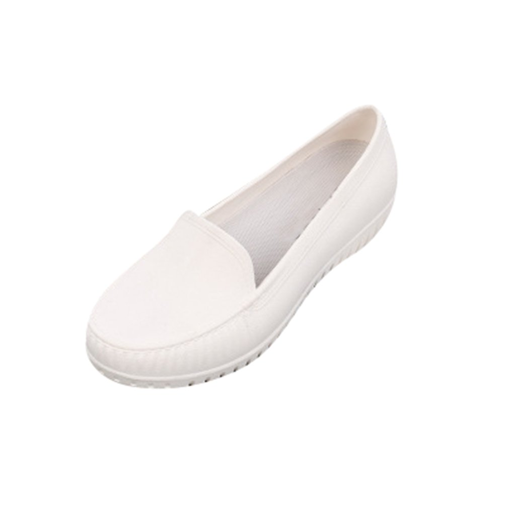 Xinwcang Mocassini Comodi da Donna, Casual Loafers Shoes Scarpe da Guida Comode Ideale per Camminare Bianca