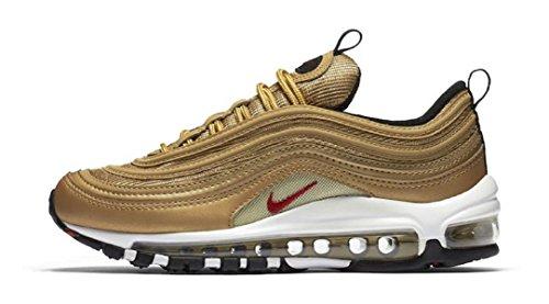 Versión Nike Air Max 97 Qs (gs) Metallic Gold 2017 - 918890-700