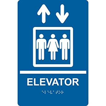 compliancesigns acrylic ada elevator sign 9 x 6 inch tactile